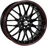 Calibre Y770J-PYBA0140+_16979 Motion Alloy Wheel for Subaru Outback 2009 Onwards, 7 x 17-inch, Black/ Red Pinstripe