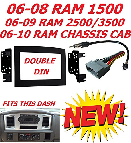 2006 2010 dodge ram double din car radio stereo. Black Bedroom Furniture Sets. Home Design Ideas