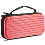 Gamemyse Traveling Carry Case Compatible Nintendo Switch Protective Portable Case 10 Card Storage Holders Design for Nintendo Switch Console & Accessories - Rose Red (Color: Rose Pink)
