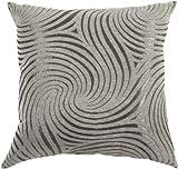 Urban Loft by Westex Swirly Cushion, 20 by 20-Inch, Taupe