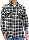 (ルーシャット) ROUSHATTE シャツ メンズ 長袖 カジュアル チェック 4color M チャコール