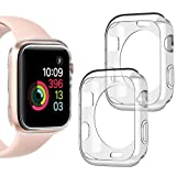 Goton Compatible iWatch Apple Watch Case 38mm Series 3 2 1, [ 2 Color Packs ] Soft TPU Shockproof Case Cover Bumper Protector (Clear + Clear, 38mm) (Color: 38mm Clear + Clear, Tamaño: 38mm (Series 3 2 1))