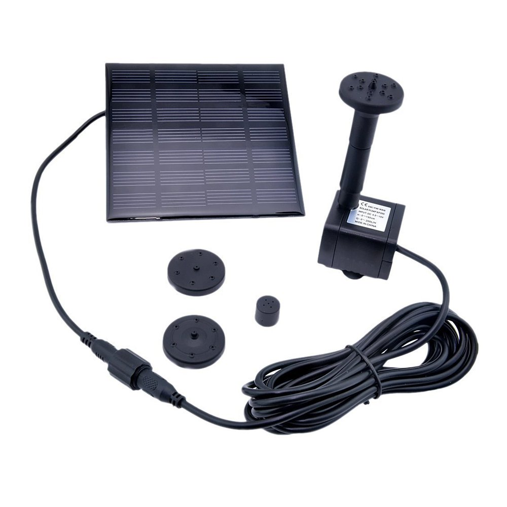 GOGOOUT Solar Fountain Water Pump Kits with 1.2W Solar Panel for Birdbath, Fish Tank, Small Pond, Garden Decoration