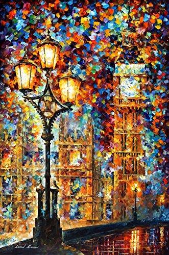 Modern Art Canva London' Dream Painting Knife Painting Wall Art Canvas Unframed Painting 30 X 40 In 75 X 100 Cm