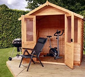 7 x 5 Overlap Traditional Summerhouse, summerhouse, wooden summer house, shed, outdoor building, from Buttercup Farm by Mercia Garden Products