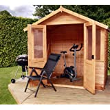 7 x 5 Overlap Traditional Summerhouse, summerhouse, wooden summer house, shed, outdoor building, from Buttercup Farm