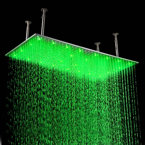 Lightinthebox 20 X 39 Inch Stainless Steel Shower Head With Color Changing Led Light
