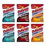 David Jumbo Sunflower Seeds, 5.25 oz Packages, Variety Bundle (Pack of 6)