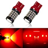 ANTLINE Newest 7443 LED Bulb Red (2 Pack), 9-30V Super Bright 1600 Lumens 7440 7441 T20 992 W21W 52-SMD LED Lamps with Projector for Replacement, Work as Turn Signal Blinker Side Marker Lights (Tamaño: 7443/7440)