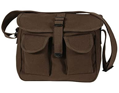 Ammo Shoulder Messenger Bag Brown 100