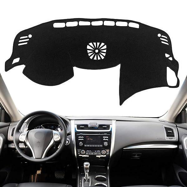 Autoxrun Black Dashboard Cover Center Console Cover Protector Sunshield Cover Fits 2014-2018 Mazda Axela Mazda 3