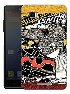 "Deadmau5 Vintage Printed Designer Mobile Back Cover For ""Lenovo Vibe P1"" By Humor Gang (3D, Matte Finish, Premium Quality, Protective Snap On Slim Hard Phone Case, Multi Color)"
