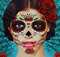 Best Cheap Deal for Glitter Red Roses Day of the Dead Sugar Skull Temporary Face Tattoo Kit - Pack of 2 Kits from Savvi - Free 2 Day Shipping Available