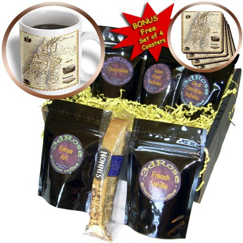 cgb_163622_1 Florene Vintage II - Image of Map of Palestine - Coffee Gift Baskets - Coffee Gift Basket