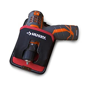 Husky 5 in. Tape and Compact Drill Holster Pouch (Color: Red and black)