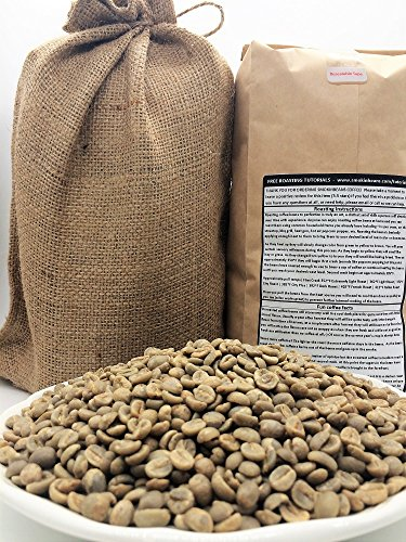 5 LBS - ETHIOPIA YIRGACHEFFE IN A BURLAP BAG- Farm: ECX Coffee, Washed, 2200M, Floral, Fruity, Bright, Unique/Distinctive, Specialty-Grade Green Unroasted Whole Coffee Beans for Home Coffee Roasters