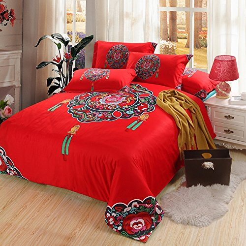 Cliab Oriental bedding Chinese Bedding Full/Queen 100% Cotton Duvet Cover set