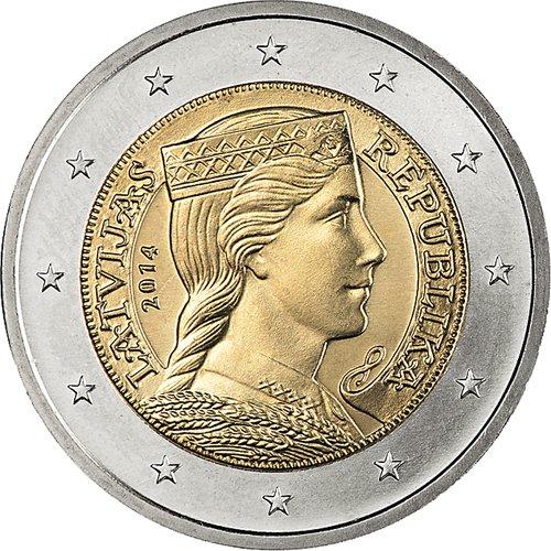Lettland Euro Münzsatz Lose 1 Cent 2 Euro 8 Münzen By