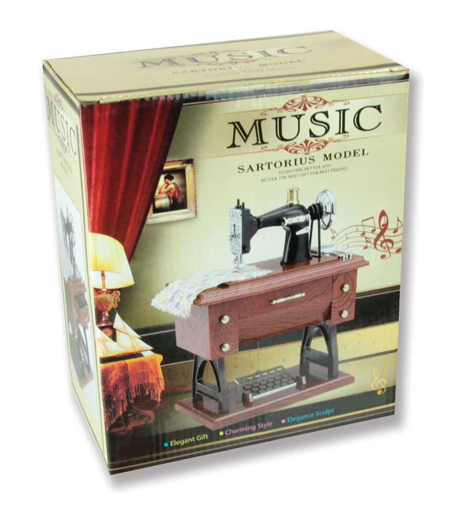 Musical Sewing Machine Music Box Vintage Look 1