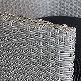 9tlg-Gartengarnitur-Terrassenmbel-Gartenmbel-Set-Sitzgarnitur-Sitzgruppe-Gartentisch-205x90cm-Polywood-Tischplatte-silbergrau-8x-Gartensessel-Poly-Rattan-stapelbar-grau-meliert-inkl-Kissen