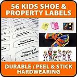 56 Waterproof PVC & SHOE Name Labels School Name Tags