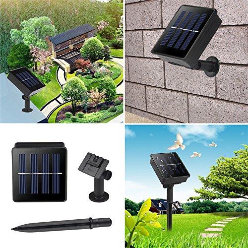 LELLEL 2nd Gen Solar Outdoor String Lights, 50 LED ...