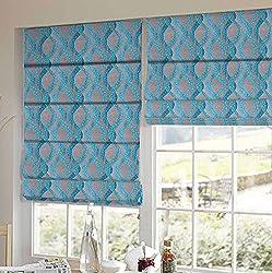 PRESTO BAZAAR 1 Piece Polyester Geometrical Blind - Blue
