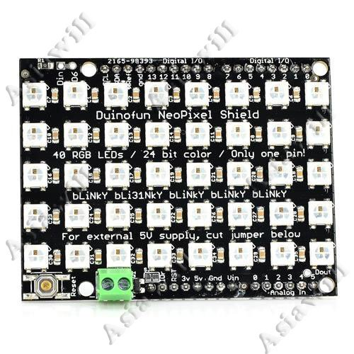 Asiawill® Full-Color 40 Rgb Led Dot Matrix Module Expansion Board