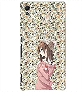 PrintDhaba Cute Girl D-2049 Back Case Cover for SONY XPERIA Z4 (Multi-Coloured)