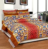 Soni Traders Floral Print Polycotton Double Bedsheet With 2 Pillow Covers (BST_171)