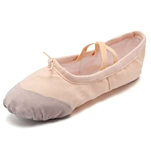 9a3a2293d29fb CIOR Ballet Slippers For Girls Classic Split-Sole Canvas Dance ...