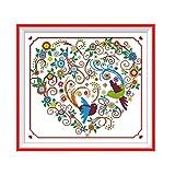 Anself DIY Handmade Needlework Cross Stitch Set Embroidery Kit Precise Printed Colorful Phenix Pattern Cross Stitching Home Decoration 51 46cm