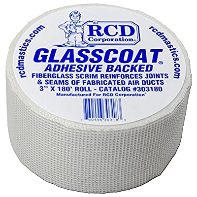 "Glasscoat Adhesive-Backed Fiberglass Mesh 3"" X 180' from RCD Corporation®"