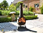 EXTRA LARGE STEEL 134CM CHIMINEA 'RAN...