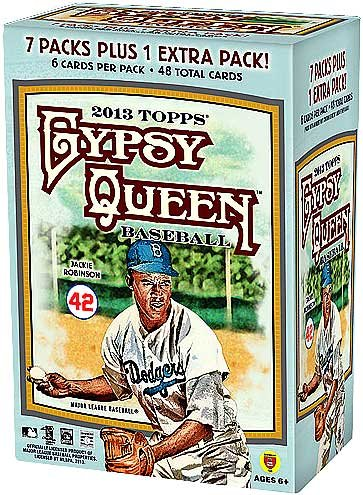 MLB 2013 Gypsy Queen Blaster Trading Cards