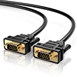 UGREEN VGA SVGA HD15 Male to Male Video Coaxial Monitor Cable with Ferrite Cores Gold Plated Connectors Support 1080P Full HD for Projectors, HDTVs, D