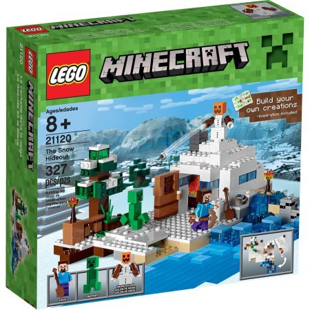 327 Pieces LEGO Minecraft The Snow Hideout Model#21120 (Minecraft Model compare prices)
