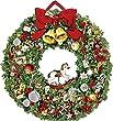 Festlicher Weihnachtskranz (Adventskalender)
