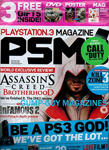 Playstation 3 Magazine Christmas 2010 PSM3 3 Gifts Inside CALL OF DUTY BLACK OPS Kill Zone 3 ASSASSIN'S CREED BROTHERHOOD inFAMOUS 2