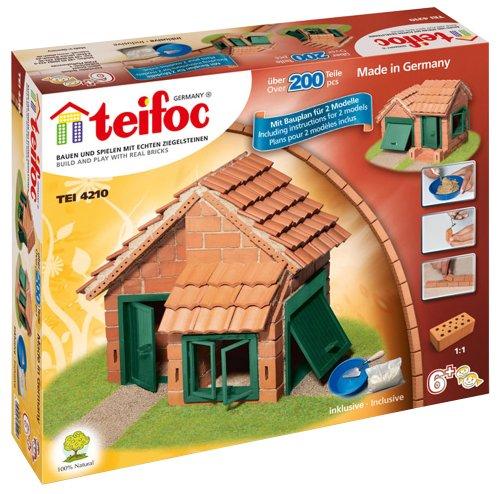 teifoc 【本物の素材で作るドイツ製のレンガ模型】 瓦屋根の家 TEI 4210