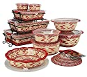 Temp-tations Old World 24-piece Complete Oven- To-table Set, Red