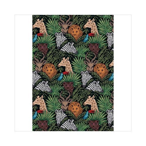 "Joy Carpets Playful Patterns Children's Animal Hide and Seek Area Rug, Multicolored, 7'8"" x 10'9"""