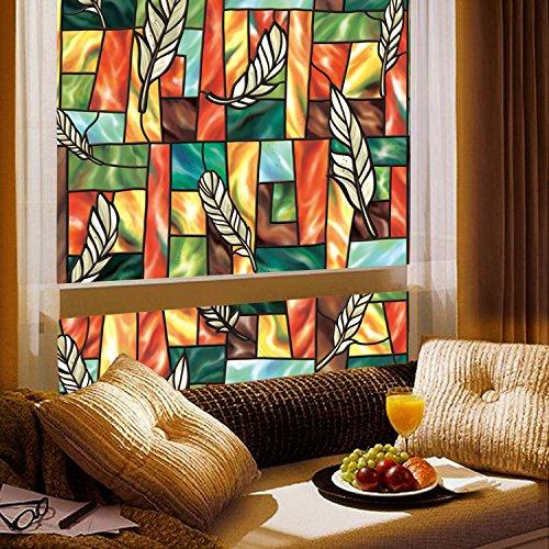 GreenForest bunte statische Window Folie f¨¹r Home & Office Fenster Aufkleber 45*200cm/17.7*78.7inches jetzt bestellen
