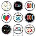 Happy 50th Birthday Sticker Decorations for Hershey Kisses (Set of 324)