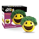 Chia Pet Emoji Smiley, Decorative Pottery Planter, Easy to Do and Fun to Grow, Novelty Gift, Perfect for Any Occasion