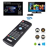Air Mouse, MX3 Pro Air TV Remote Mouse 2.4G LED Backlit Mini Wireless Keyboard Mouse, Infrared Remote Control Learning for Kodi Android Smart TV Box IPTV HTPC Mini PC Pad XBOX Raspberry pi3 and Mac OS (Color: Black)