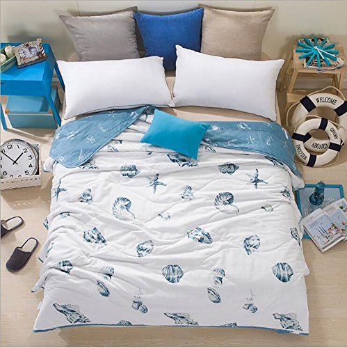"Purchase Home Comfortable 100% Cotton Comforter for Summer Air-Conditioning Quilt 1PC (70"" x 86..."