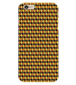 HiFi Designer Phone Back Case Cover Apple iPhone 6 :: Apple iPhone6 ( Orange Black Yellow Colorful Pattern Design )