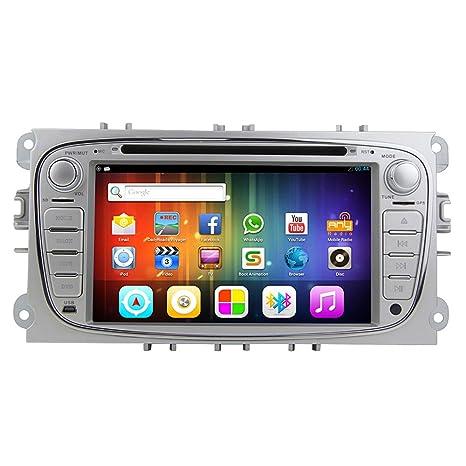 "Rungrace Autoradio CD/DVD Android 7"" 2 Din Ecran Tactile TFT Pour Ford Focus 2012-2014 avec Bluetooth, Navigation-Ready GPS, RDS, WIFI ATV (RL-761AGAR"