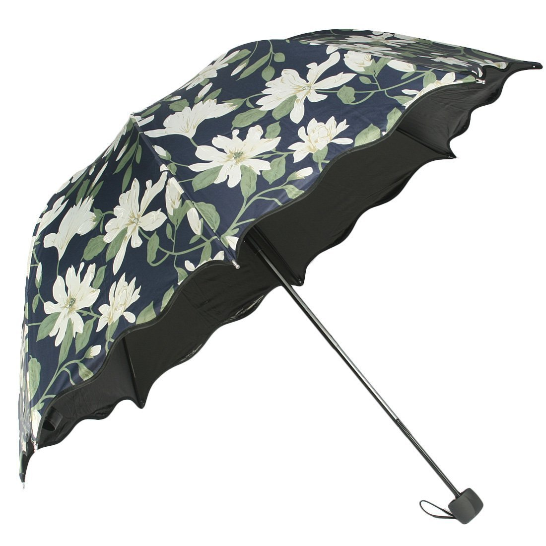 kilofly Anti-UV Folding Travel Parasol Vintage Floral Rain Sun Shade Umbrella 0